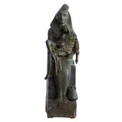 French Spelter Egyptian Style Table Sculpture, circa 1880