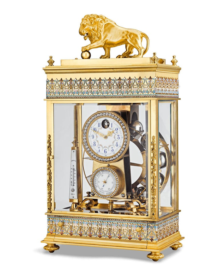 Other French Spherical Weight Mantel Clock
