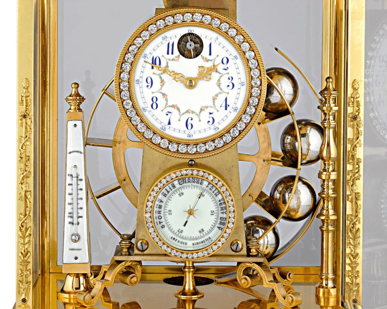 Gilt French Spherical Weight Mantel Clock
