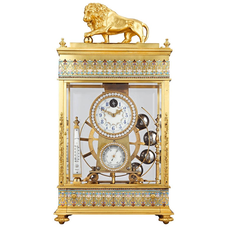 French Spherical Weight Mantel Clock
