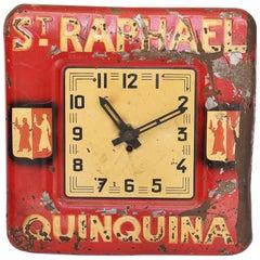"""French """"St. Raphael Quinquina"""" Advertising Clock"""