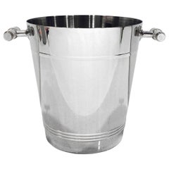 French Stainless Steel Wine Cooler Ice Bucket with Pearlescent Handles