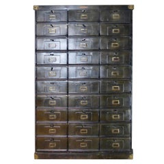French Steel Cabinet by Stratfor of Strasbourg, circa 1920s