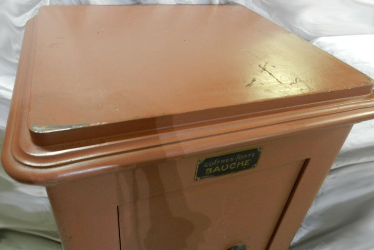 Early 20th Century French Steel Safe by Bauche For Sale