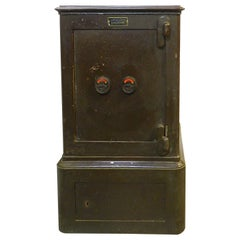 French Steel Safe by Bauche, Late 19th Century