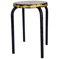 French Steel Stool or Table Jean Prouve Attributed, 20th Century