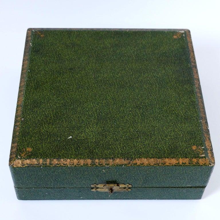 French Sterling Silver 18-Karat Gold Four Salt Cellars, Spoons, Box, Swan, Lion For Sale 8