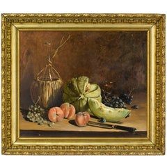 French Still Life Painting by Moutaulon