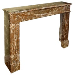 French Stone Louis XV Style Mantle