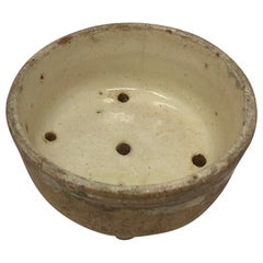 French Stoneware Cheese Mold Strainer