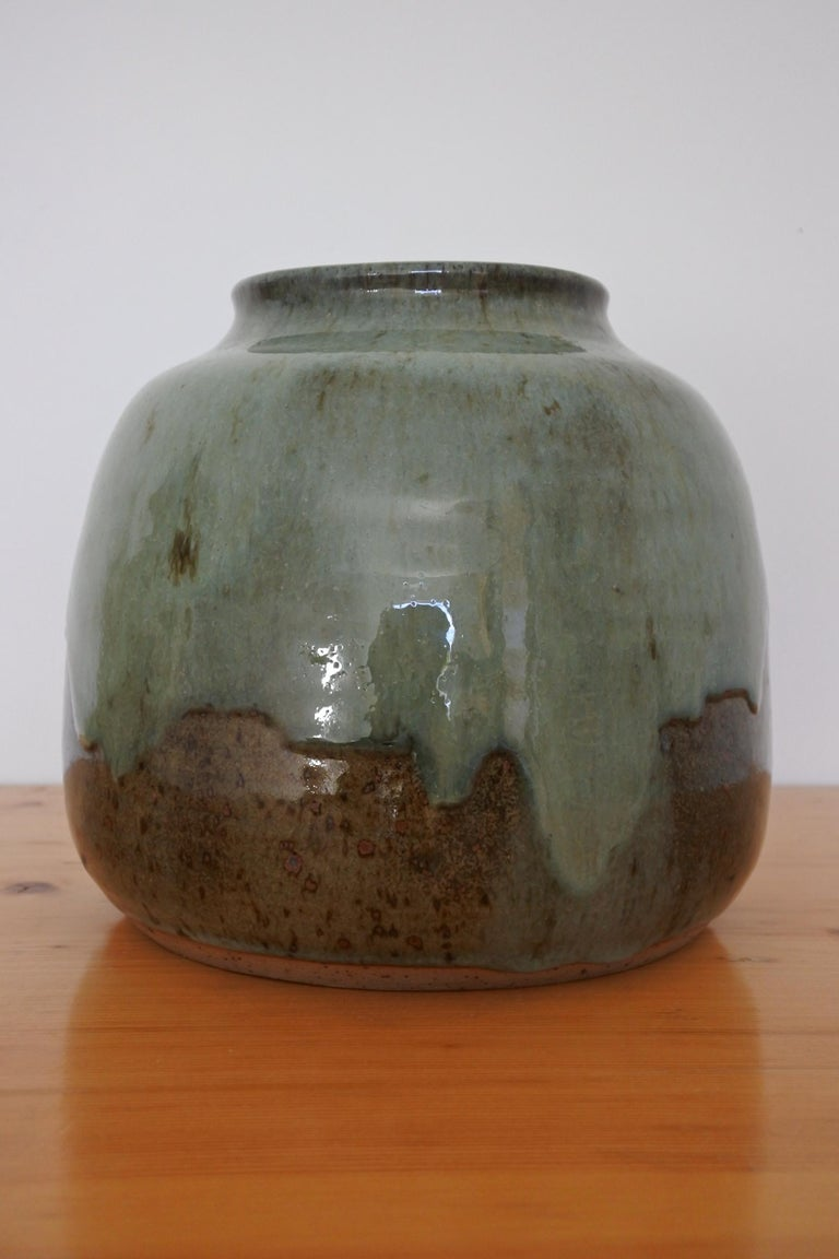 Late 20th Century French Stoneware Vase from La Borne, France, 1970s For Sale