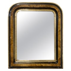 French Stucco Louis Philippe Mirror, 19th Century