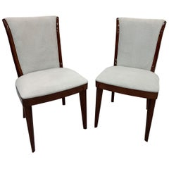 French Style Art Deco Streamline Set of Six Dining Chairs, circa 1930s