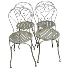 French Style Garden Chairs, Set of Four