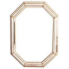 French Style Giltwood Parclose Wall Mirror, circa 1930