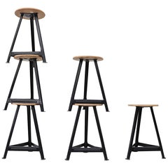 French Style Industrial Task Stools
