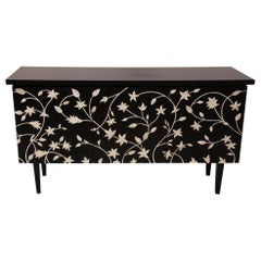 French Style Inspired Bone Inlay with Resin Buffet Sideboard