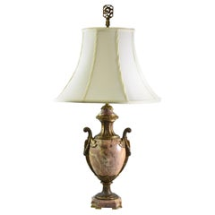 French Style Marble and Brass Urn Shape Table Lamp