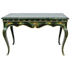 French Style Marble-Top Center Table