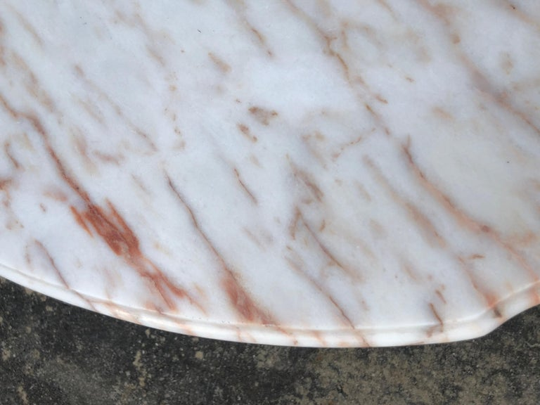 French Style Marble-Top Iron Dining Table For Sale 5