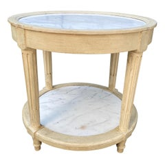 French Style Marble Top Side Table by Frederick Victoria