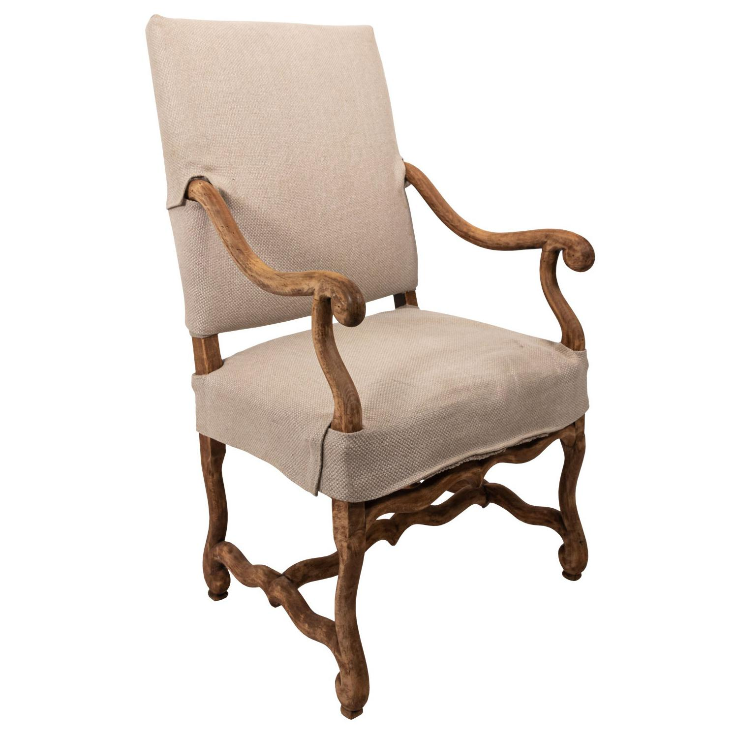 French Style Os De Mouton Armchair