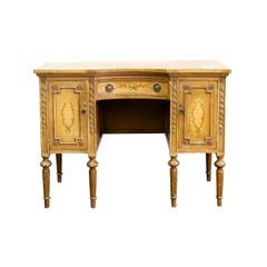 French Style Painted One Drawer Console Table