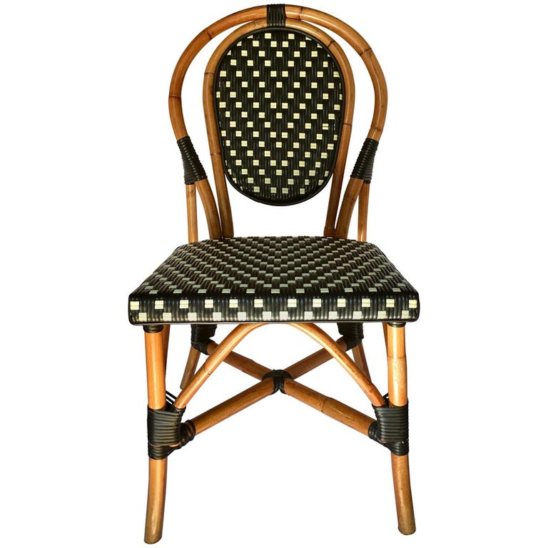 French Style Parisian Cafe Bistro Rattan Dining Chair For ...