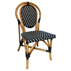French Style Parisian Cafe Bistro Rattan Dining Chair