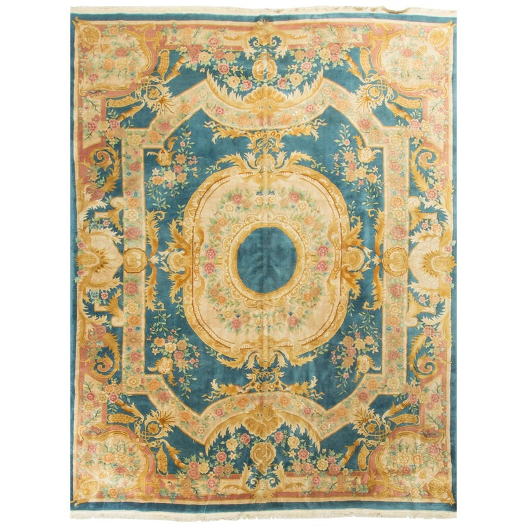 Rugs Furniture: French Style Savonnerie Rug Carpet For Sale At 1stdibs