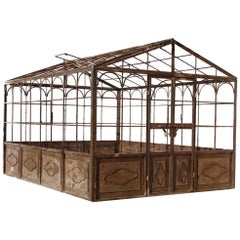 French Style Wrought Iron Greenhouse with Door and Windows