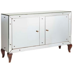 French Stylized Mirrored Commode about 1940