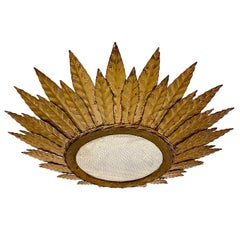 French Sunburst Light Fixture