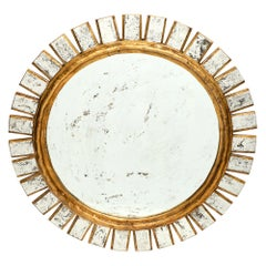 French Sunburst Mirror in the Manner of Line Vautrin