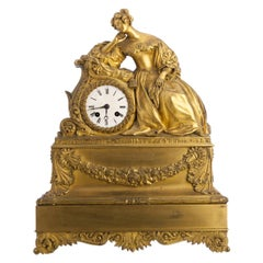 French Table Clock, 19th Century