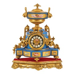 French Table Clock 19th Century Sign Lefevre-Paris