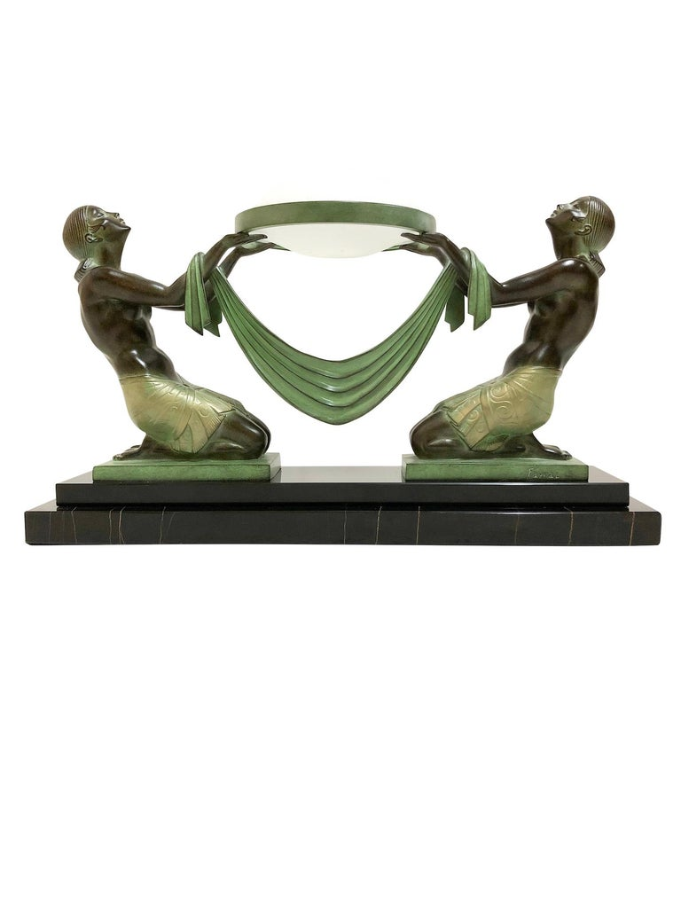 Lighted item table lamp, sculpture