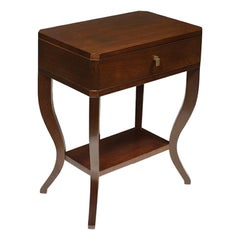 French Talbot Bedside Table, 20th Century