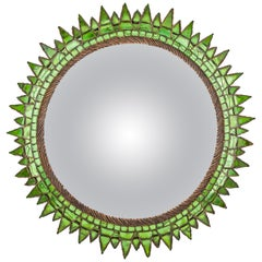 French Talosel and Incrusted Mirrors with Central Convex Mirror Line Vautrin