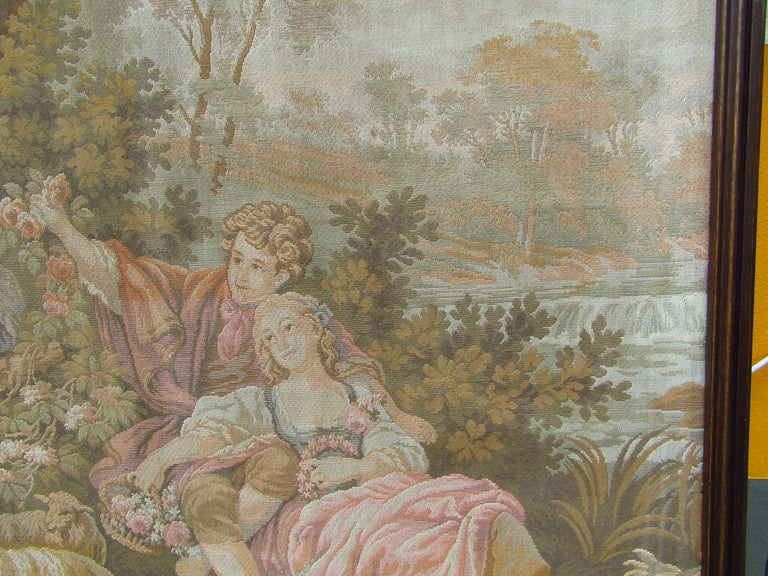 French Tapestry Aubusson Style, 1880 For Sale 5