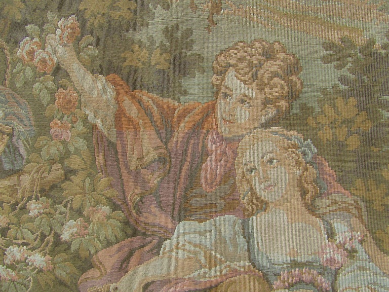 French Tapestry Aubusson Style, 1880 For Sale 7