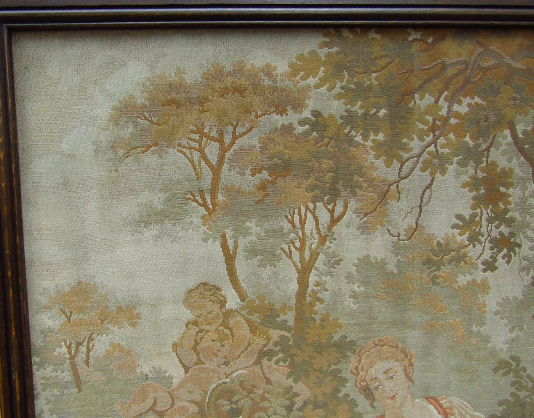 French Provincial French Tapestry Aubusson Style, 1880 For Sale