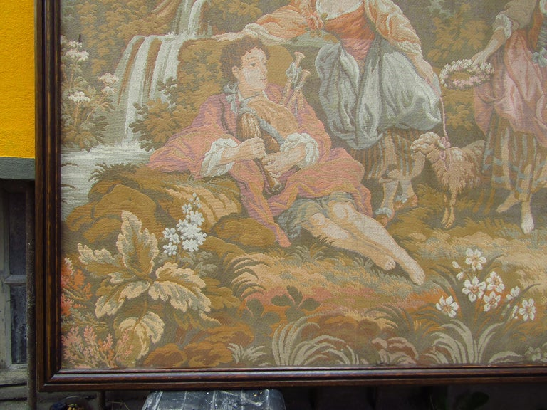 Late 19th Century French Tapestry Aubusson Style, 1880 For Sale
