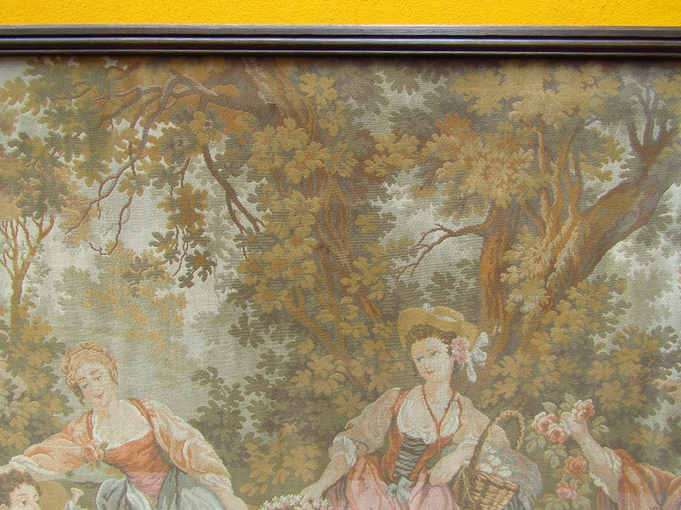 French Tapestry Aubusson Style, 1880 For Sale 1