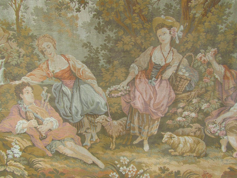 French Tapestry Aubusson Style, 1880 For Sale 2