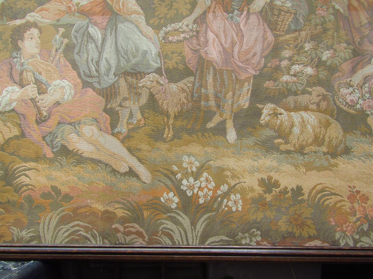 French Tapestry Aubusson Style, 1880 For Sale 3