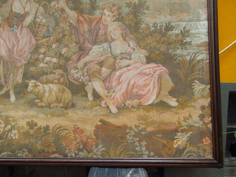 French Tapestry Aubusson Style, 1880 For Sale 4