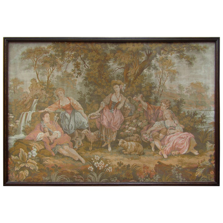French Tapestry Aubusson Style, 1880 For Sale