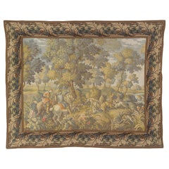 French Tapestry of Hunt Scene with Hounds and Deer