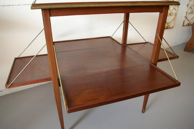 Directoire French Tea Table from 1900, Designed by A. Bastet Lyon For Sale
